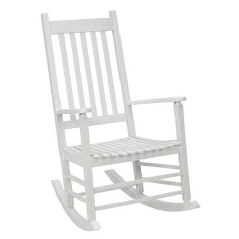 post white mission patio rocker 08100877 the home depot