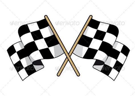 crossed black  white checkered flags  images