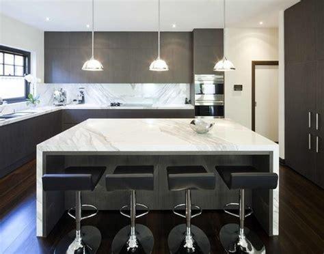 cuisine en l avec ilot cuisine avec îlot central modernes deco maison moderne
