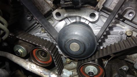 Acura Tl Timing Belt Replacement by A 122 Diy 105k Service Timing Belt Water Spark