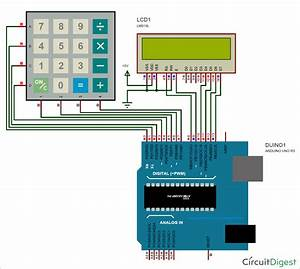Arduino Calculator Circuit Diagram