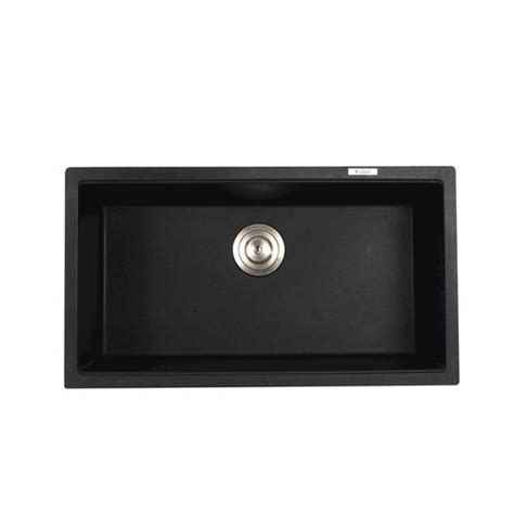 Black Kitchen Sink Menards by Kraus 31 Quot Undermount Single Bowl Black Onyx Granite