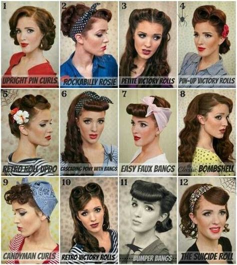 Hair Names by 25 Best Ideas About Easy Vintage Hairstyles On