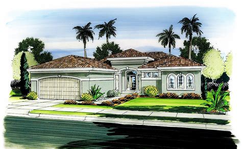 One Story Florida House Plan
