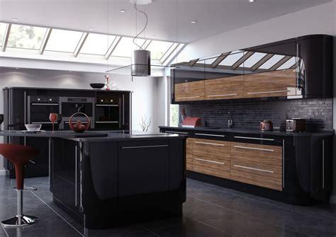 ultra modern  sleek black  wood kitchens page