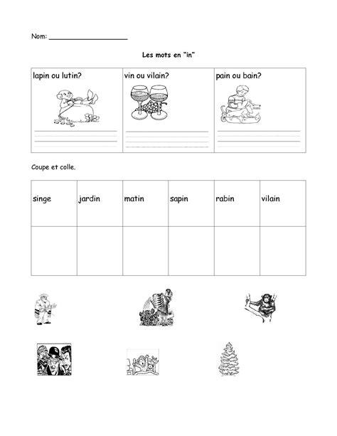 french worksheets  grade  top worksheet