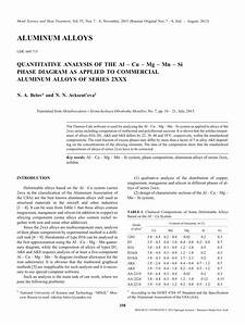 Pdf  Quantitative Analysis Of The Al  U2013 Cu  U2013 Mg  U2013 Mn  U2013 Si