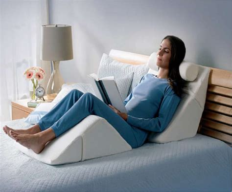 34463 pillow for reading in bed relax in bed with a bed wedge ergoprise