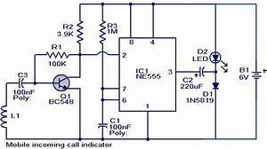 Mobile Incoming Call Indicator Circuit Diagram