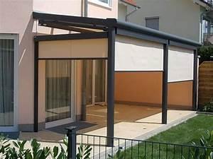 überdachung Für Kaminholz : k d berdachung f r eine terrasse mit seitenteilen und ~ Michelbontemps.com Haus und Dekorationen