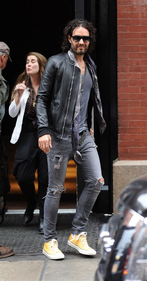 russell brand jeans russell brand in distressed grey skinny jeans