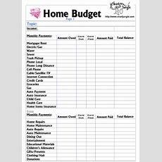 Home Budget Listvery Necessary, Whether You Own A Home, Rent, Or Whatever!  Organize Me