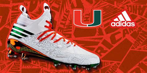 cleat options highlight  miami hurricanes  adidas uniforms sole collector