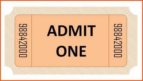 inspiring templates  admission ticket thogati