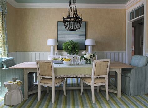 Blue And Green Cottage Dining Room