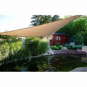 Voile D Ombrage Triangulaire 5m : voile d 39 ombrage triangulaire 5x5x5m boutique bassin ~ Dailycaller-alerts.com Idées de Décoration