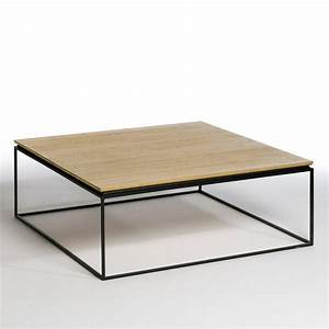 table basse woody 2 modeles ampm meubles scandinaves With modele de jardin moderne 13 table dappoint moderne en metal et plateau bois massif