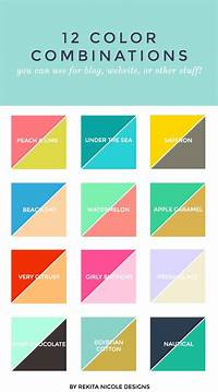 what are good color combinations 12 Color Combinations | Design color, First birthday parties and Everything