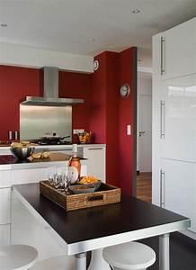 Deco Mur Cuisine : d co cuisine mur rouge ~ Teatrodelosmanantiales.com Idées de Décoration