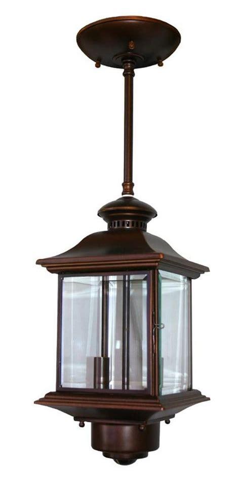 motion sensor  high antique bronze outdoor hanging