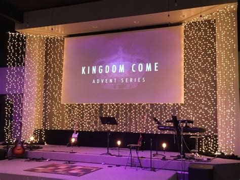 Church Stage Backdrop by Littered W Light From New Community Christian Church In