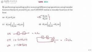Gate 2015 Ece Block Diagram Reduction Technique Control