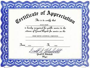 Appreciation certificate templates free download for Free certificate of appreciation template downloads