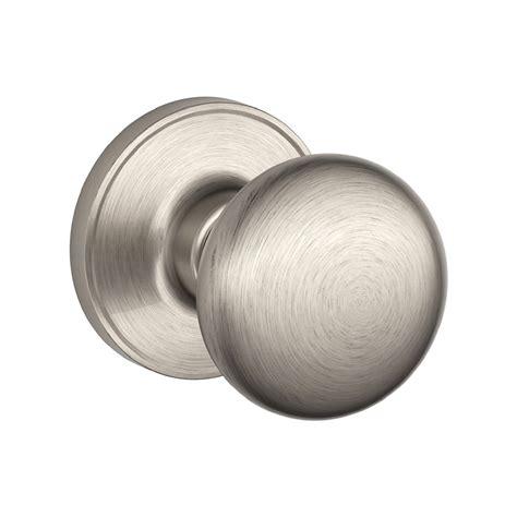 shop schlage stratus satin nickel passage door knob