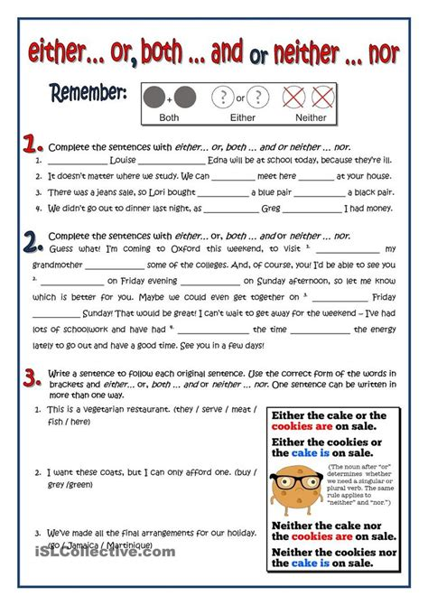conjunctions worksheet grammar