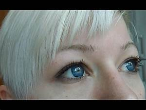 EOS 'Ice' Blue lenses on blue eyes - review - YouTube