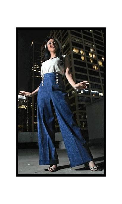 Pants Sailor Pachuca Waisted 1940s Outfits Chola