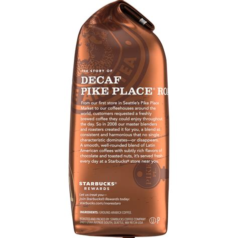 Starbucks® pike place roast coffee is named after the place where it all began back at pike place market in seattle in 1971. Starbucks Decaf Ground Coffee — Pike Place Roast (12 oz) from Andronico's Community Markets ...