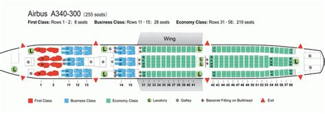 airbus a340 300 stoelindeling air china airlines airbus a340 300 aircraft seating chart
