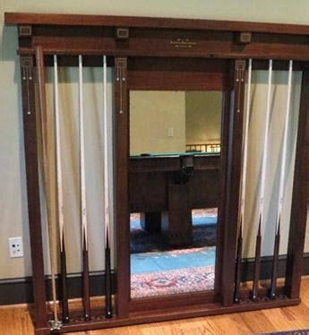 antique brunswick wall mount cue rack   reproduction