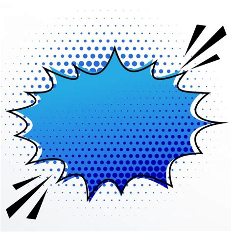 Blue Speech Bubble Vector Free Download