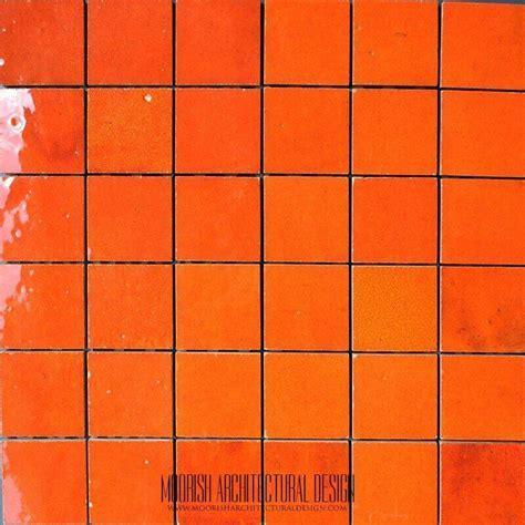 Moroccan Ceramic Tile   Orange Moroccan Tile   Zellige Tile