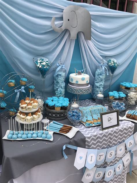 peanut babyshower dessert table candy bar ideas