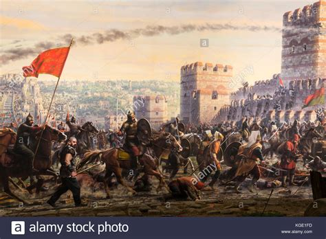 Ottomans Capture Constantinople by Siege Constantinople Stock Photos Siege Constantinople