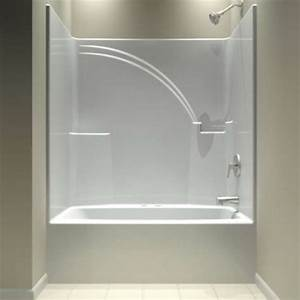 Aquarius tub and shower units one piece shower units and for Bathroom tub covers