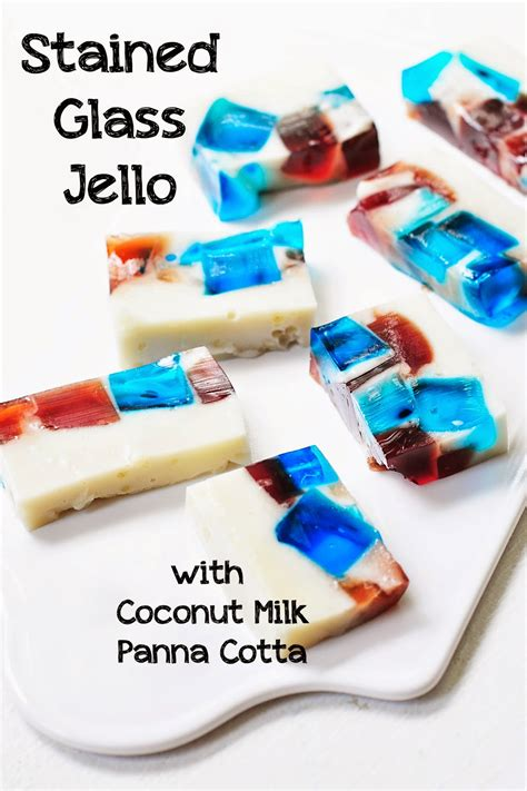 simply gourmet stained glass jello  coconut milk