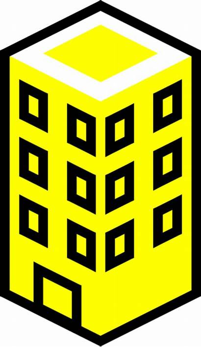 Office Building Yellow Clip Clipart Vector Clker