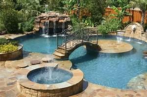 Reve De Piscine : 1001 mod les spectaculaires de piscine avec cascade ~ Voncanada.com Idées de Décoration