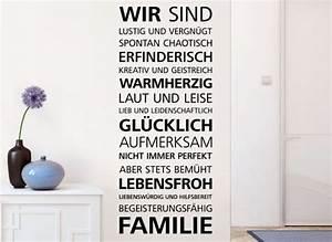 Wandtattoo Sprüche Familie : wandtattoo spruch wir sind familie e025 spr che zitate wohnzimmer wandtattoos nach ~ Frokenaadalensverden.com Haus und Dekorationen