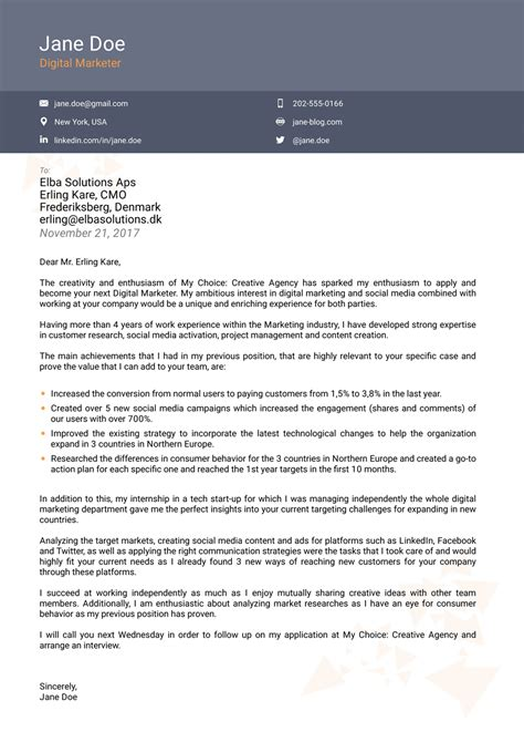 creative cover letter template 2018 professional cover letter templates now