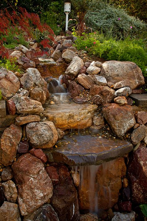 saratoga pondless waterfall stream landscaping contrator