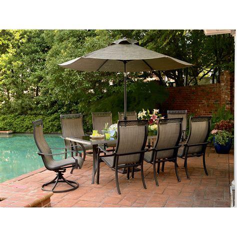 agio patio furniture sears agio ads 17500 47810 grand 9 pc storyback glass