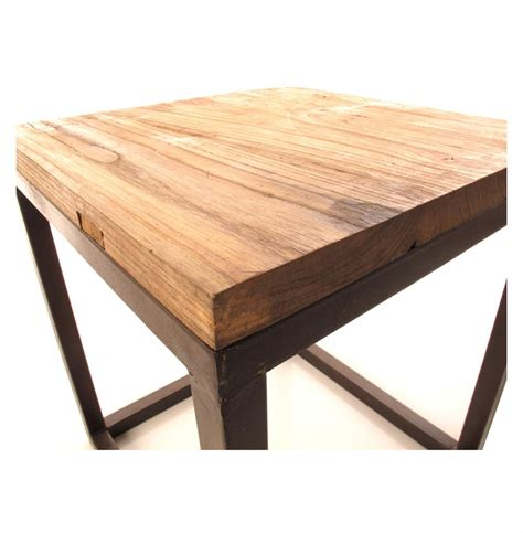 reclaimed elm wood solid chunky reclaimed elm wood large side end table