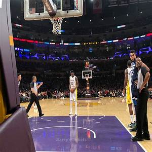 Staples Center Section 106 Courtside Seat Views Lakers Game