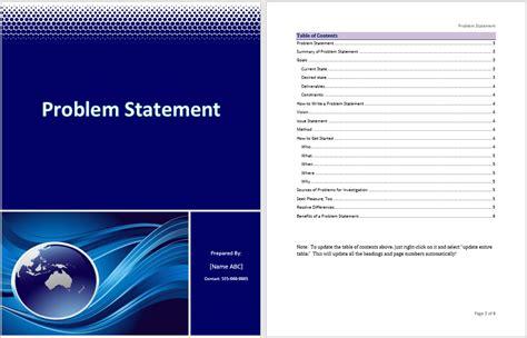 problem statement template word templates