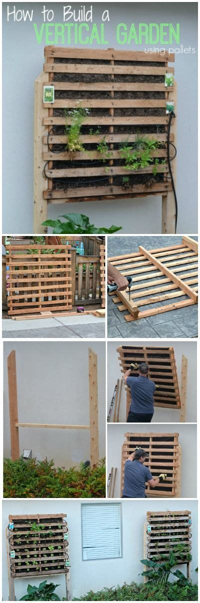 How To Build A Vertical Pallet Garden by How To Build A Vertical Garden Using Pallets Diy Of